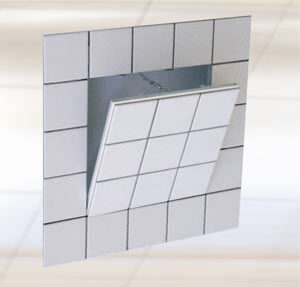 Drywall + Metal Access Panel For Tile Applications